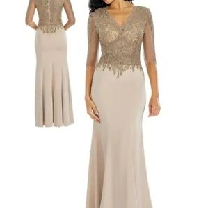 Elegant Champagne formal dress